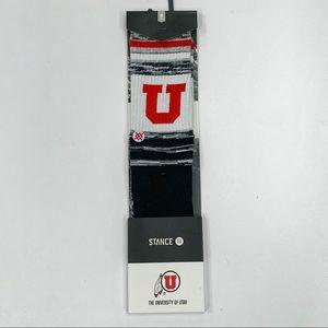 Stance X NCAA University Of Utah Varsity Socks M